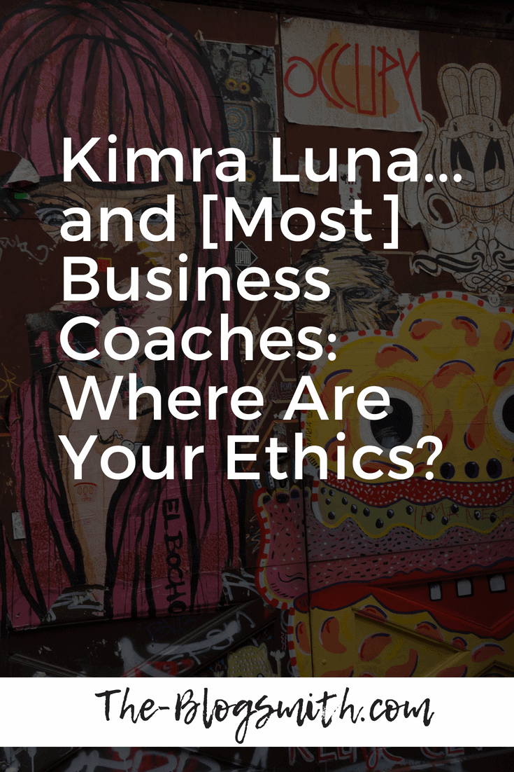 I started to get a bad feeling about Kimra Luna after seeing how much people were willing to give up to afford to make payments on her $2k branding course.