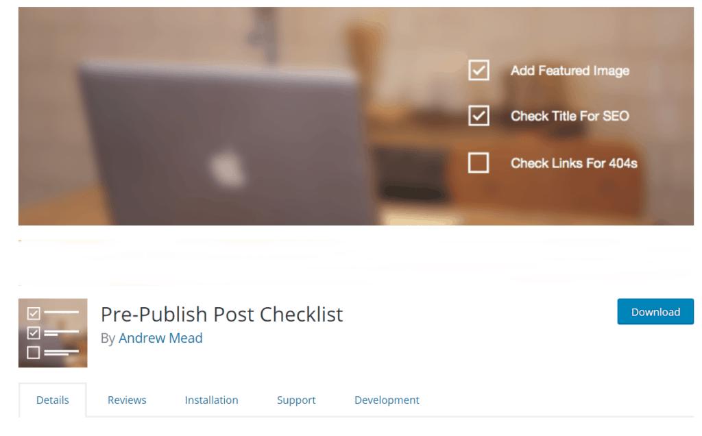 blog post checklist WordPress checklist plugin