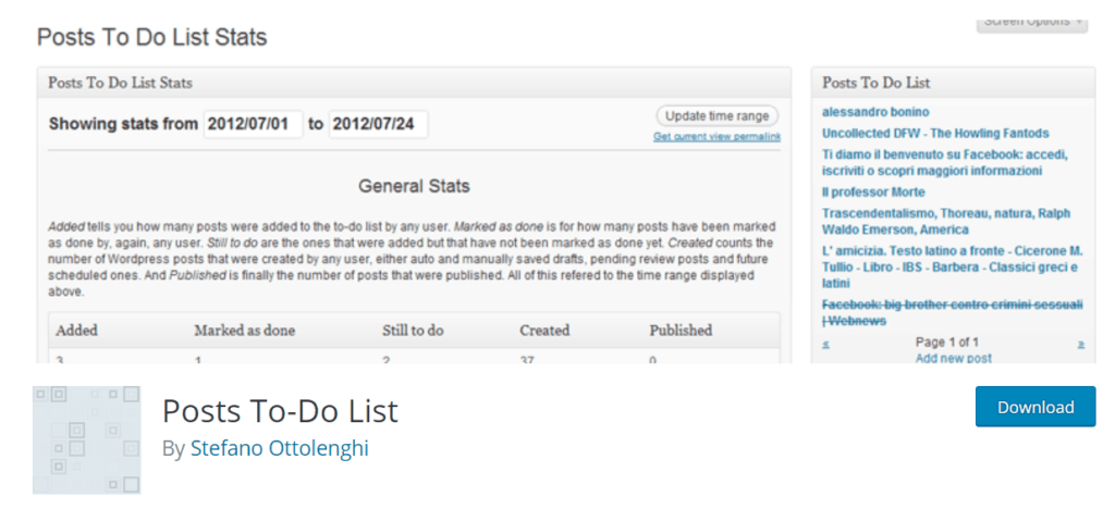 blog post checklist WordPress checklist plugin