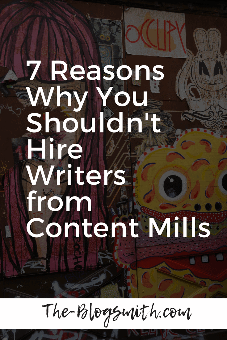 Content mills pay writers less than a living wage. It doesn't matter if you're ethical: it's easy to see how cutting out the middleman is a smart business move.