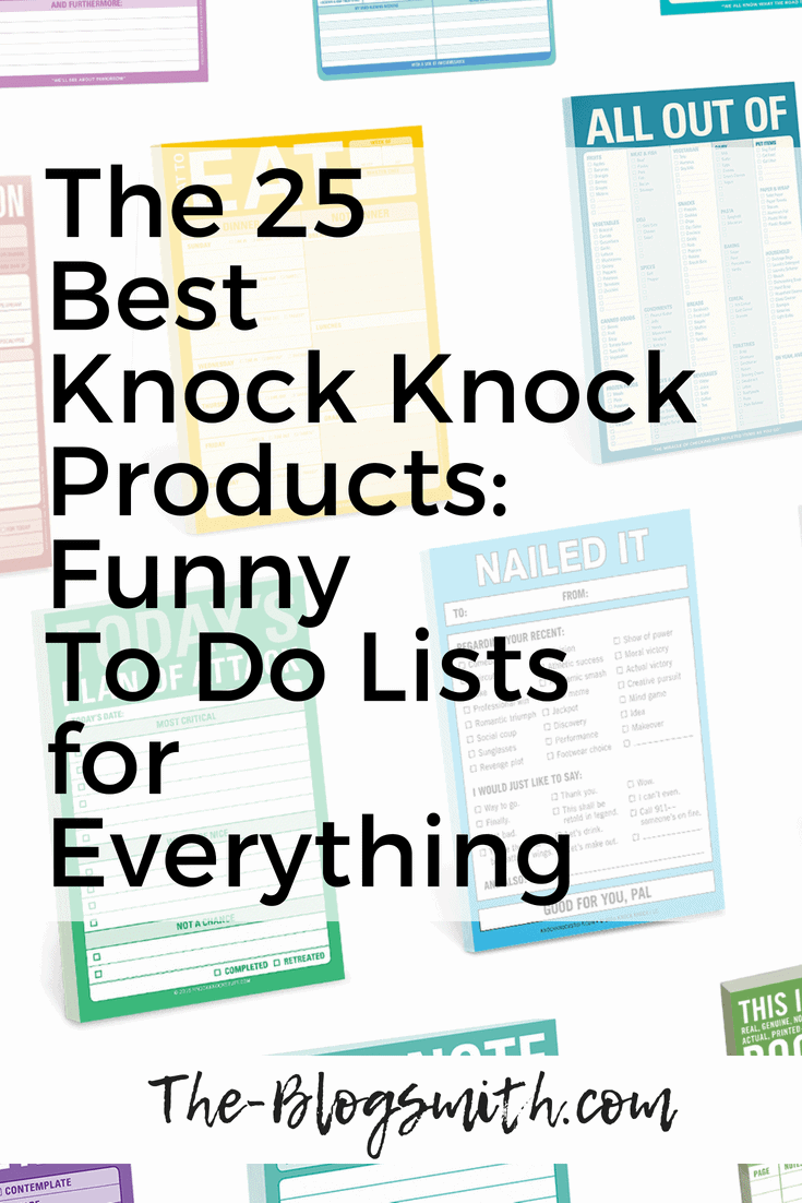 Knock Knock products = the best funny to do lists. They make great gifts for those you love (including yourself). Here are my top choices for every situation.