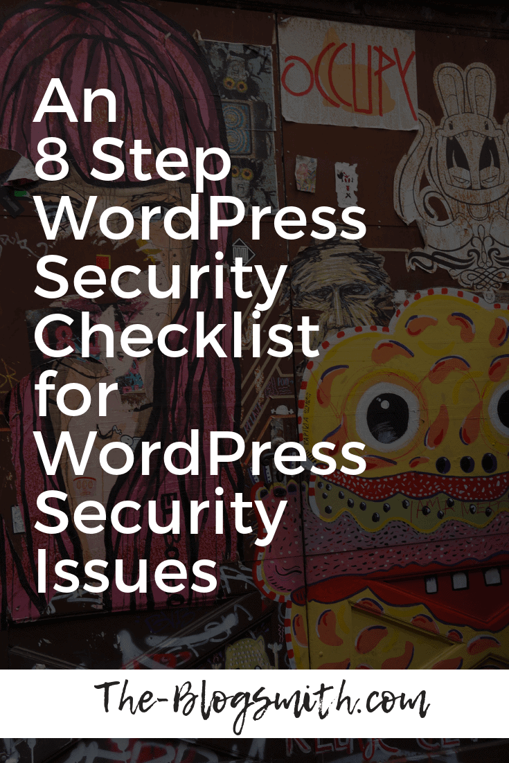 "Kw: WordPress security issues Secondary: WordPress security checklist Please note: this article contains affiliate links for businesses I use and love. Powering 30% of all websites in the world (and growing!) and capturing almost 60% market share of all open source content management systems, there is no doubt about WordPress' popularity. But when it comes to popularity on the internet, there are often consequences. Because of its widespread use, WordPress has become a favorite target for hackers and attackers. Did you know: ● There are roughly 91,000 attacks on WordPress every minute. ● During the worst WordPress security breach, over 18 million users were compromised. ● 73% of the 40,000 most popular websites that use WordPress are vulnerable to attack. Many of these hackers use bots to automate the process of sniffing out vulnerabilities from your site. With this in mind, an attach isn't necessarily personal, which is why even the smallest, under-the-radar websites get hacked. Once their bots find a viable entry point, hackers jump in and take advantage. Before going through the comprehensive WordPress security checklist I've put together to help you safeguard your website from the worst possibilities, let's take a deeper look into some common WordPress security issues. What Hackers Can Do to your WordPress Website According to the 2017 Cybersecurity Report by ISACA, 53% of enterprises experienced more attacks this year than the year prior. This is supported by research from Symantec, who found that ransomware attacks increased by 37% in 2017. Here are some of the most popular reasons (and resulting impacts) for hacker activity on a website: ● Website vandalization. Hackers do this to make a name for themselves while hurting your brand. ● Overload web servers. Also known as DDoS attacks (distributed denial of service), this happens when hackers overload your site's bandwidth or resources with a lot of hits, using one (or multiple) servers. It can also be considered as an act of vandalism. ● Spread viruses. Did you know that hackers can use your WordPress site to spread viruses and malware? They can do this by inserting malicious code in the backend, or by uploading files for download on the site's frontend. For example, just last year, hackers took advantage of the BlogVault plugin to infect its users with malware. The four most common WordPress malware infections are backdoors, drive-by downloads, pharma hacks, and malicious redirects ● Inject malicious content. Not all hacking happens through the backdoor of your website. Sometimes, hackers will focus on posting links to malicious websites in hopes that your website's visitors click on them. There are a few different ways to do this, such as comment spam, spam contributions, and hacking into your email and sending spam messages to your followers. ● Host pages from your server. Hackers might construct an attack against you that involves either legit or phishing pages from your server. The latter is used to collect information from website visitors, and can be done by inserting a contact form which directly collects sensitive information. Alternatively, hackers can redirect visitors to another website where they can collect the information. Google blacklists 50,000 websites daily for phishing. ● Steal server bandwidth. Hackers can do this through hotlinking, a method by which users direct link files (images, video, etc) so that it appears on their website despite being hosted on yours. By doing so, they use up your bandwidth to view the files that are hosted on your website. Some web hosts charge based on bandwidth used, so if you go over your monthly allotted bandwidth, your website is billed extra or taken offline. ● Steal information. Hackers can steal anything from user's personal information to a business' trade secrets, and either use it for their own purposes or hold it for ransom. Pro Tip: Read more about WordPress security vulnerabilities on a recent article I wrote for GoDaddy. WordPress Security Checklist: How to Protect Against WordPress Security Issues Some of the weakest points of a website include passwords, input fields (like forms), comments, and payment gateways; WordPress database, core, themes and plugins, and even your WordPress hosting server. This WordPress security checklist will help you to build protection for these weak points. #1: Use a WordPress Security Plugin If you aren't terribly techy, you may want to outsource your major WordPress security needs to a security plugin. 73.2% of the most popular WordPress installations that are vulnerable can be detected using free automated tools. There are several plugins — like Wordfence, Sucuri, and Defender — that offer functionality that includes scanning for vulnerabilities, blocking security threats and malicious networks, implementing a firewall, and monitoring DNS changes. While we're talking about WordPress plugins, it's worth mentioning that 52% of WordPress security vulnerabilities reported related to WordPress plugins. #2: Create Backups Regularly (& Automatically) Creating backups is a good way to ensure that you have access to your website's important files in case anything happens to your live website. Most web hosts will do this automatically in the background but make sure to double check with them before relying on this safeguard! I recommend Kinsta for their performance WordPress hosting but the fact that they let you create multiple automatic/manual backups is just another reason to check them out. There are several plugins that you can use to automatically create backups, but one of the most recommended options is VaultPress, which is owned by the same company that created WordPress (and is part of the Jetpack plugin). UpDraftPlus is another great option — the only WordPress plugin with a free version that you can use to schedule automatic backups. Don't just rely on the efforts of one plugin when it comes to your backup strategy. Create multiple copies of your backup files and store them in different places (cloud, hard drive, etc.). #3: Update WordPress Regularly Updating your WordPress website is the single easiest and most effective way to prevent hacker attacks because WordPress updates are meant to fix whatever was broken with the previous version. Despite this fact, only about 40% of WordPress sites are up to date. WordPress automatically updates for minor fixes, but major updates like the WordPress 5.0 update must be manually initiated. You must also ensure that along with timely WordPress core updates, your plugins and theme files are updated in a timely manner. According to Wordfence, if you can protect yourself from plugin vulnerabilities and brute force attacks, you are already saving yourself from 70% of hacking problems. According to a report by wpscan.org, of the 3,972 known WordPress vulnerabilities, 52% are from WordPress plugins, 37% are from the WordPress core, and 11% from WordPress themes. Finally, 65.6% of WordPress websites are using the latest WordPress version (4.9), but only 6% are using the latest PHP version (7.2), and 0.9% are using the latest MySQL version (10.2). The major takeaway here regarding WordPress security issues? You need to proactively update to the most recent version of important files (core, themes, plugins, PHP, database) in order to best protect yourself from hackers. A WordPress maintenance service, like WP Buffs, can take care of this process for you automatically, in the background, while managing any potential conflicts between these moving pieces. #4: Keep Passwords Secure Keeping your WordPress password secure is a given preventative security measure, but you'd be surprised at the number of people that are unable to adequately protect themselves from related attacks. According to Panda Security, 81% of attacks happen mainly because of insecure or stolen passwords. A lot of attackers gain entry to your WordPress site via brute force — the repeated entry of username and password combinations until they get the right one. An easy way to prevent this possibility is by limiting attacks by limiting login attempts. Pro Tip: Use the Login LockDown plugin, which records the IP address and timestamp of every failed login attempt and locks down the login function if the number of failed attempts from the same IP range is reached in a certain period of time. Next, choose a password that's more than 6 characters and is composed of a combination of both upper and lowercase letters, numbers, and symbols. For something uncrackable, 10-50 characters are sufficient. WordPress can also generate an almost-uncrackable password for you. Pro Tip: Use a program like LastPass to help you remember passwords. LastPass can also help you generate a secure password. On that note, change passwords often and don't reuse passwords. It's also advisable to use your email instead of username to log into WordPress because usernames are easier to predict than emails. According to WP Smackdown, the top usernames being attacked are: Admin, admin, administrator, test, root. Pro Tip: If you defaulted to an ""admin"" username when you first created your WordPress installation, simply install the Username Changer plugin to create a more secure username. #5: Protect Your Login Page Apparently, I missed the new best practices claiming that renaming the URL of your WordPress login page is not helpful. Or, so said the commenters on a related piece I wrote about WordPress security issues for WPKube: Regardless, I'll share a related resource for the sake of being comprehensive. The Rename wp-login.php plugin makes the wp-admin directory and wp-login.php page inaccessible but does not change the files in the WordPress core whatsoever. At any rate, security through ""obscurity"", as commentator Luke Cavanagh put it, certainly isn't the only way to lock down your WordPress login page. Another option? Implementing two-factor authentication (2FA) for logging in. This method requires registering/activating another device to confirm the site owner's identity. There are a few two-factor authentication methods: ● SMS/email. The program asks for an SMS number or email that they can send a code to every time you log in. ● Authenticator app (iOS and Android). Relies on time-sensitive one time passwords (OTPs) that are generated every period. ● Push-based. Sends a prompt when someone tries to log into your website, including the location they are trying to log in from. Many of my clients use some type of two-factor authentication to lock down access to the backend of their WordPress blogs — I'd say it's worth following their lead. While two-factor authentication can be a fairly fool-proof method for beating some of the top WordPress security issues, it can certainly be a hassle — especially if you don't have your phone with you (/if you can't use cellular data while you're traveling) or if you forget the email you used to sign up with. Furthermore, using the Authenticator app means that you've authorized the specific device where you've installed the app. If you get a new mobile device, you'll have to redo this process — ideally before you delete the data on your old device! The risk of the SMS method in 2FA is the fact that you're giving away private information that companies could potentially use to send you spam. Also, if hackers get ahold of your phone number, they can use this to gain access to your account. If this situation seems unlikely, don't forget about recent data breaches (Experian, Cambridge Analytica, etc.) on seemingly secure platforms. #6: Use a Secure Hosting Provider It's worth mentioning that your hosting provider plays a role in keeping your WordPress site secure. In fact, according to WP White Security, 41% of hacks happen because of a security vulnerability on their hosting platform. Depending on what you're willing to spend, there are different types of web servers you'll have access to through the average web host. Typical budget options usually revolve around the use of a shared web server. This means that you're sharing the server resource with other users, making your website susceptible to cross-site contamination, where hackers can access your website through a neighbor on the same server. Use web hosts that follow WordPress security best practices, such as Siteground (for budget needs) and Kinsta (for high performance). Both include access to SSL certificates that encrypt user's personal data. Since HTTPS is now an official ranking factor, ideally, you'll make sure that this security fix has been implemented ASAP (if you haven't already). Pro Tip: If you're still using HTTP, follow along with my guide for switching to HTTPS for Pathfinder SEO. When choosing a hosting provider, WPMU DEV suggests looking for features such as: ● Server-side firewall and encryption ● NGINX or Apache web servers ● Antivirus and anti-malware software ● On-site security systems ● Availability of SSL certificates and a CDN A WordPress security best practice is to use managed WordPress hosting, which costs a little more than budget options, but takes care of everything for you including backups, updates, uptime, security, and speed. #7: Use a Firewall When a plugin or theme is breached, there is a lag time between the when the vulnerability is discovered and when a fix is made. This is called the ""window of vulnerability"", and you'll need to use a firewall to avoid this. There are different levels of firewalls that can block different kinds of traffic. You can get a firewall through the use of security plugins, or through a WordPress maintenance company. I've been testing out SiteLock recently and it offers a unique and useful feature: the ability to patch the WordPress core software to the latest update, even if you're a few updates behind. Stay tuned for a more in-depth SiteLock review, coming to the blog shortly. #8: Protect Input Fields Fields like comments and contact forms are an obvious target for hackers to take advantage of. They can steal data being entered to those fields by force or by stealth (like by monitoring keystrokes). On a similar note, beware of cross-site scripting (XSS), where attackers inject client-side scripts into web pages viewed by other users. 84% of security vulnerabilities are a result of XSS attacks. Pro Tip: Some websites receive tons of spam comments, which is why they choose to disable comments. However, comments are a great way of communicating and getting feedback from readers and visitors. To moderate comments and proactively battle spam, install the free(/donations accepted) Akismet plugin, also offered by the team behind WordPress. Final Thoughts: An 8 Step WordPress Security Checklist for WordPress Security Issues The worst WordPress security issues are those that you haven't proactively prepared for. Once the damage is done, it may be too late to protect sensitive data. Instead of waiting for the inevitable (at least according to statistics), use this WordPress security checklist to protect your website from the worst WordPress security issues. Don't have time to go through everything right now? You're in luck! I've put together a one-page WordPress security checklist that you can download and save for later (or send to your web developer). OptinMonster: https://docs.google.com/document/d/1VEGf8XCNMYXhHb76EI0lae7m-GWmhGBlhoA8TICcQ8U/edit Pinterest image:"