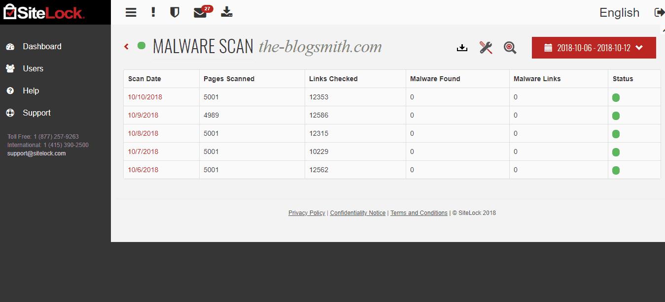 SiteLock review: scan